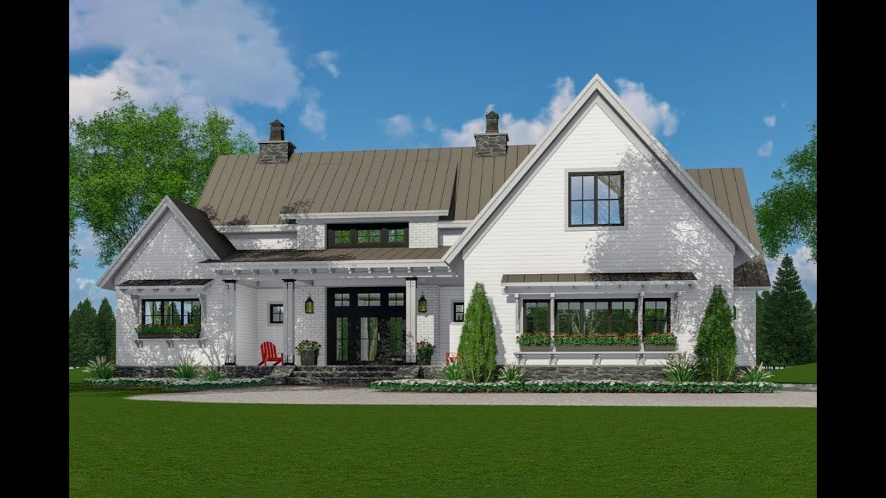 best farmhouse plans architectural designs modern farmhouse plan 14663rk virtual tour youtube 7014