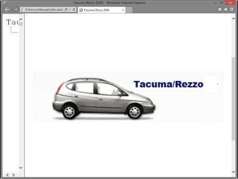 Daewoo Tacuma / Chevrolet Rezzo (2004) - Service Manual / Repair Manual - Wiring Diagrams