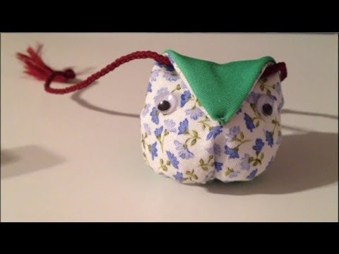 diy hibou en tissu tuto 1 youtube. Black Bedroom Furniture Sets. Home Design Ideas