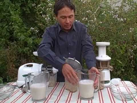 Almond Milk In Slow Juicer : Best Juicer for Making Almond Nut Milk - The Omega vRT 330HD or Omega 8004 ? - YouTube