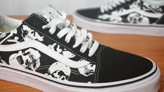 da57289e27d514 On Feet VANS Old Skool Skulls ...