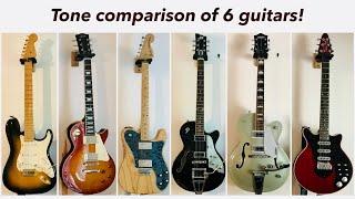 6 guitar shootout... Strat/LP/Tele/Duesy/Gretsch/Brian May