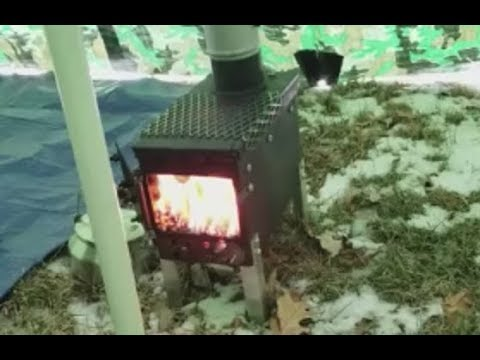 Ammo Can Stove at 20 Degrees in the Hot Tent Teepee