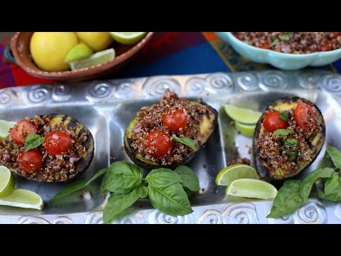 How to Grill Avocados and Make Quinoa Salad | Healthy Fiesta | Muy Bueno