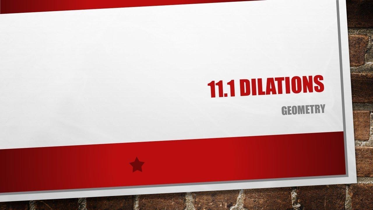 11.1 Dilations - YouTube