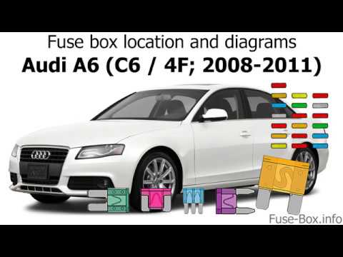 Fuse Box Location And Diagrams Audi A6 2008 2011 Youtube