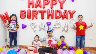 Kids Go To School | Birthday Of PAPA Chuns And Best Friends Make Birthday Cake In Classroom