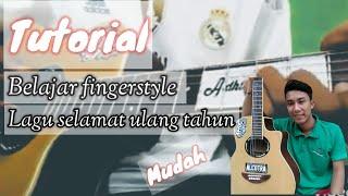Happy birthday fingerstyle guitar lesson (tutorial) - Belajar fingerstyle lagu selamat ulang tahun.