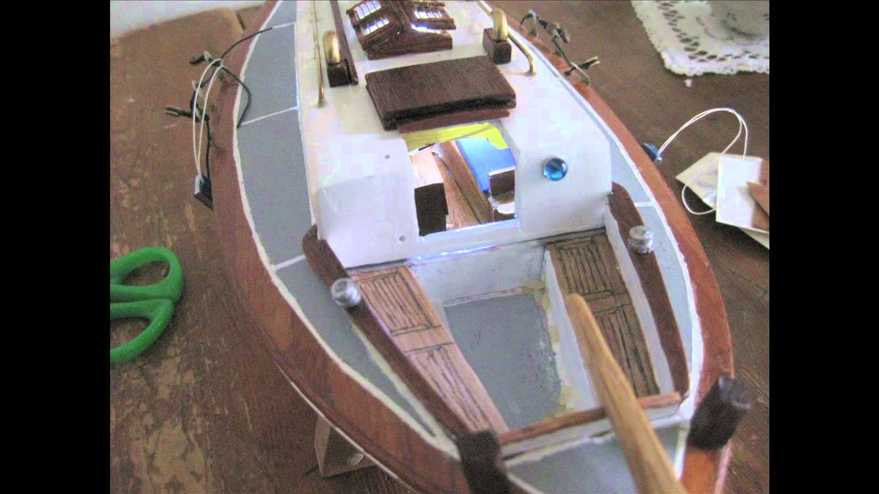 Kitchen table close up - Colin Archer Model Boat Youtube