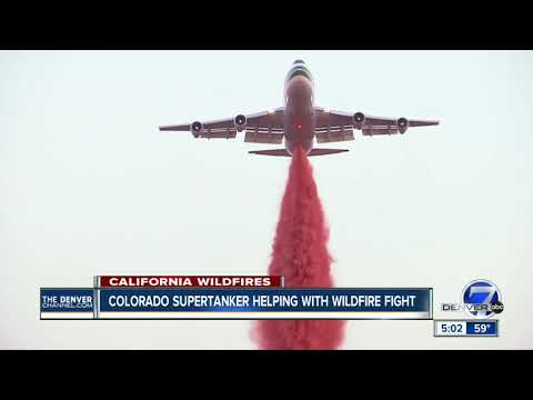 Colorado-based SuperTanker takes on California wildfires