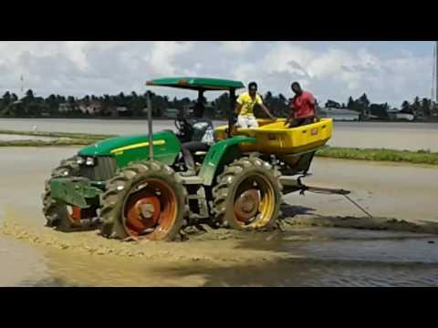 John Deere 5725 h with tatu seeder in essequibo coast Guyana