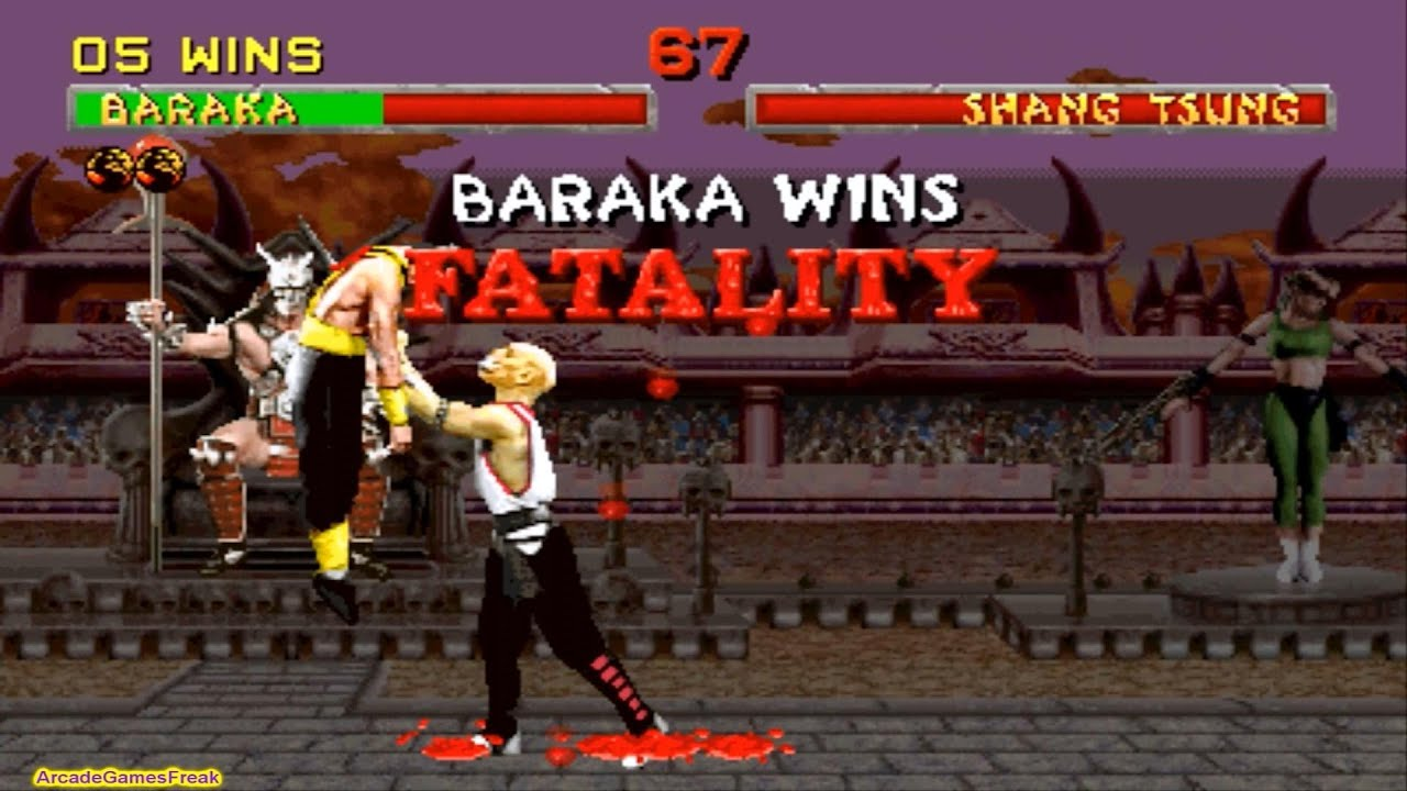 Download Mortal Kombat 2 arcade Baraka Gameplay Playthrough