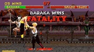 Mortal Kombat 2 arcade Baraka Gameplay Playthrough thumbnail