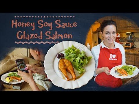 15 minutes Honey Soy Sauce Glazed Salmon