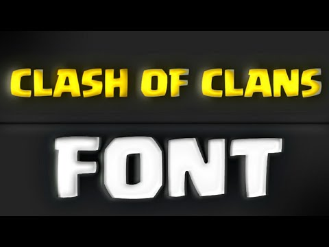 Download the Clash of Clans Logo font for free !!
