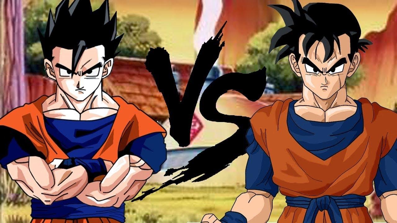 Goku vs teen gohan show. bela