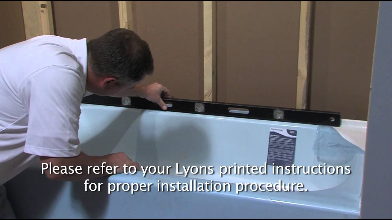 Lyons Victory Tub Installation Video - YouTube