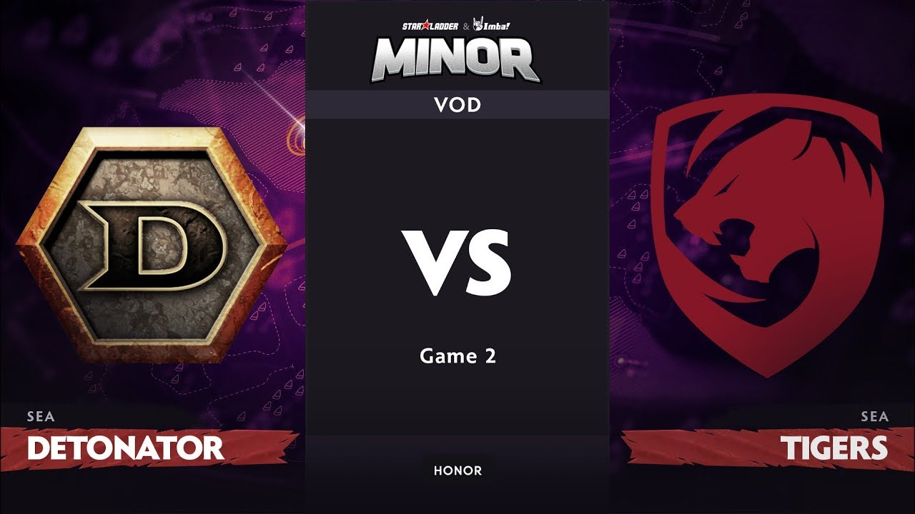 [RU] DeToNator vs Tigers, Game 2, SEA Qualifier, StarLadder ImbaTV Dota 2 Minor