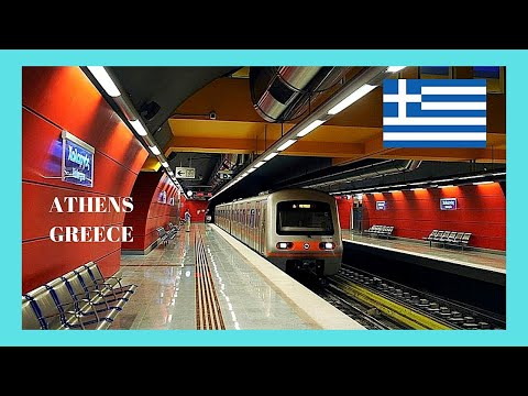 ATHENS: Riding The METRO (SUBWAY Or UNDERGROUND), GREECE 🚇