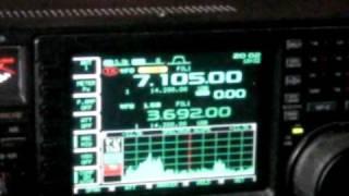 ICOM 756 PRO 3  7.105 MHZ LSB