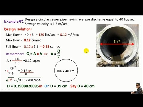 English - Sewer Line Design / Design Of Sewer Pipe.