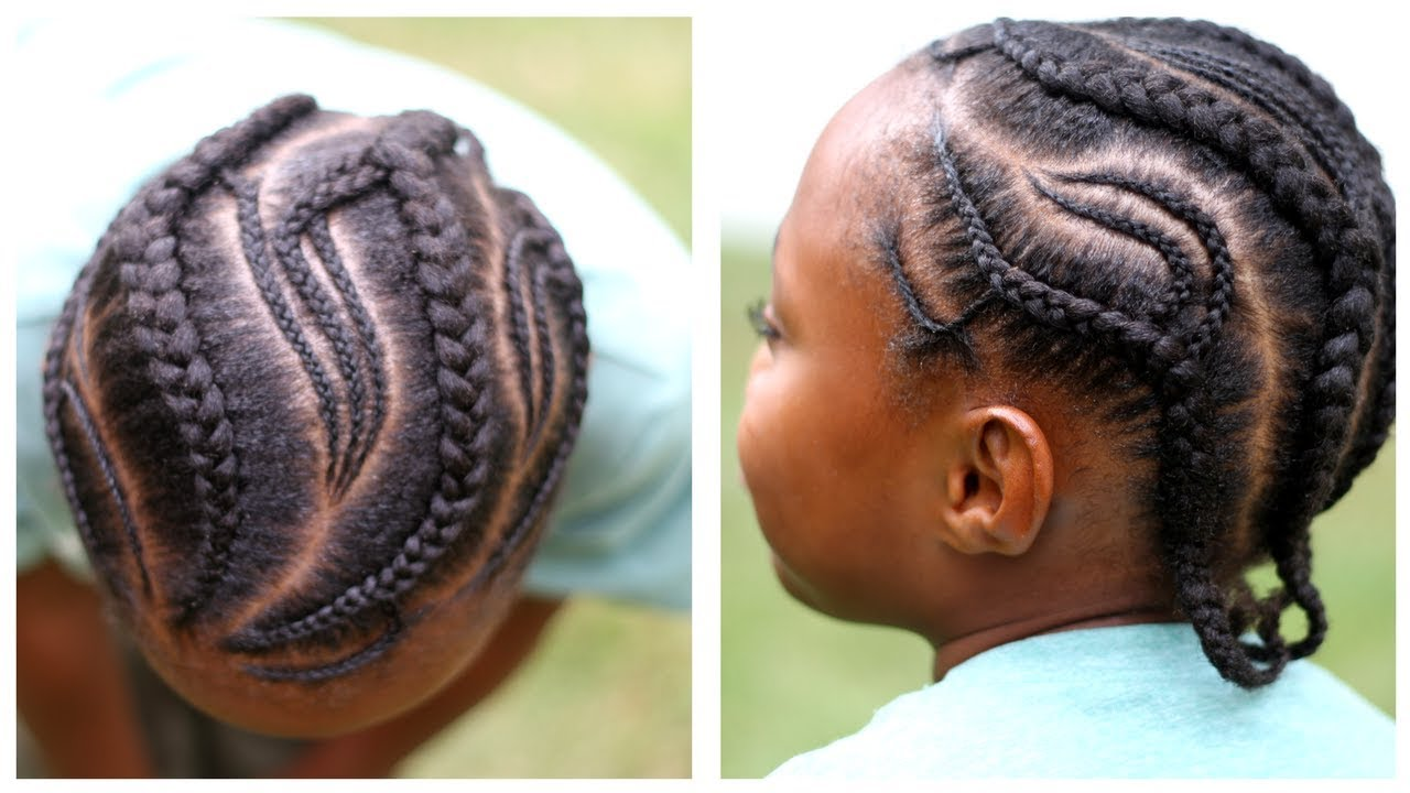 simple cornrows for little girls or boys | braidsasart