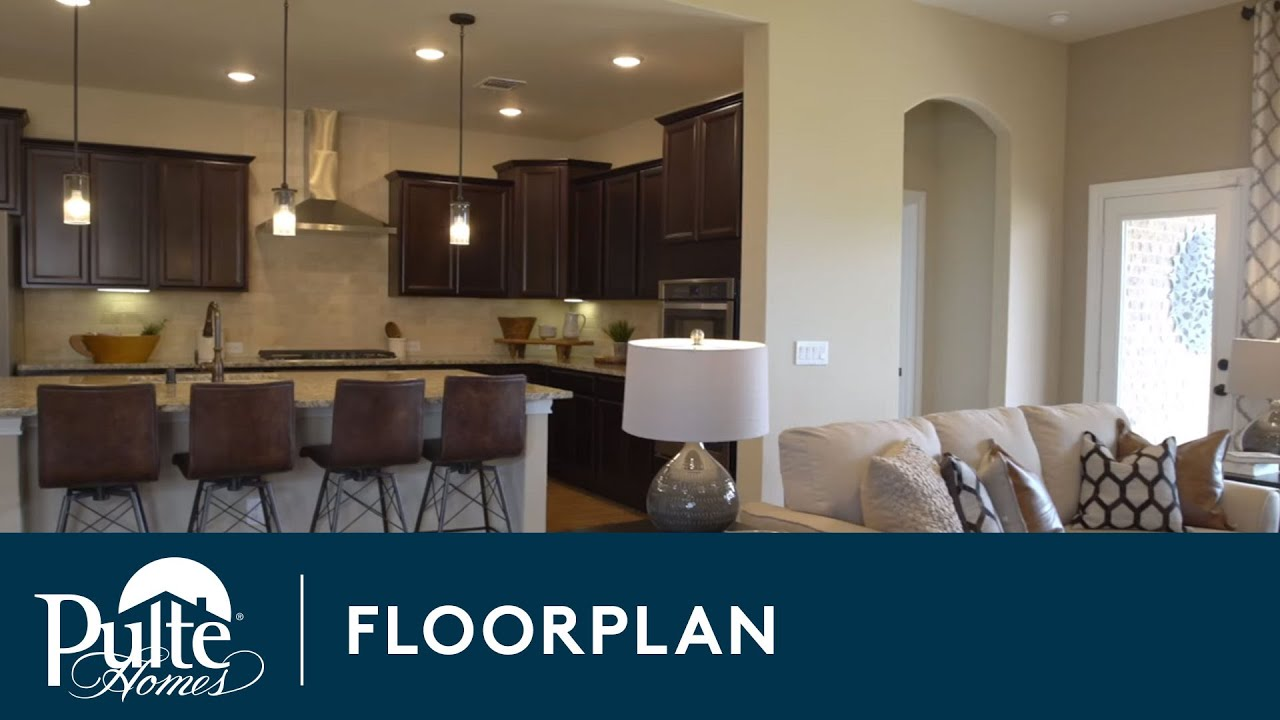 New Homes by Pulte Homes – Lexington Floor Plan - YouTube