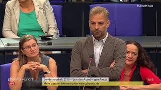 Bundestagsdebatte zum Etat des Auswärtigen Amts am 12.09.18