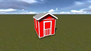 8x12 Small Barn Shed Plan