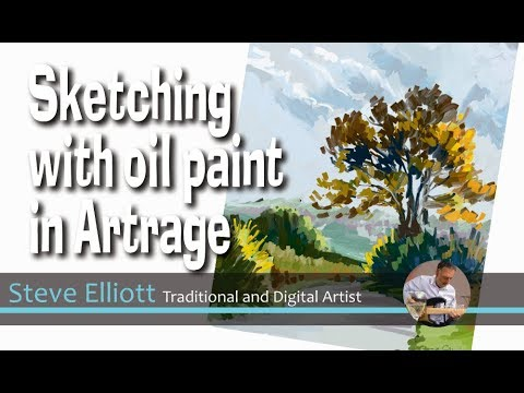 Sketching with Oil Paint in Artrage for the Ipad