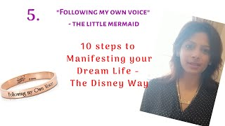 Following my Own Voice - The Little Mermaid ( Step 5 of 10)