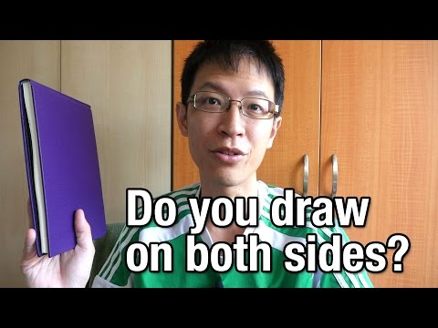 Drawing on One or Both Sides of Paper in a Sketchbook