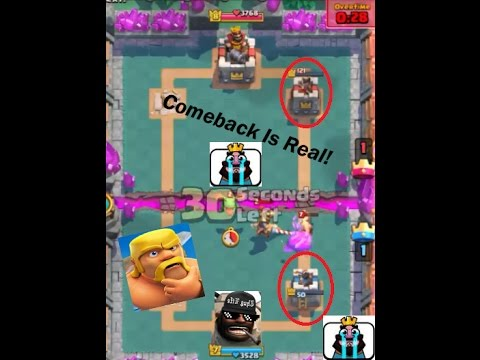 Clash Royale | TOP COMEBACK BY HOD RIDER !...