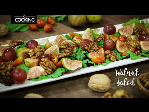 Walnut Salad | Savoury Walnuts | Honey Glazed Walnuts | Healthy Salad