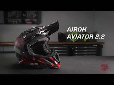 伊摩多※義大利 AIROH AVIATOR 2.2 WARNING 越野帽 AV22WA55 超輕量 附手提帽袋。亮紅