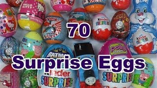 70 Surprise Eggs Kinder Surprise Thomas And Friends Play Doh Peppa Pig Disney Spider-Man Jake Planes