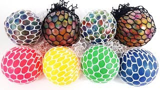 색깔 슬라임 액체괴물 공 색깔놀이와 장난감 서프라이즈 놀이 어린이 유아 동영상