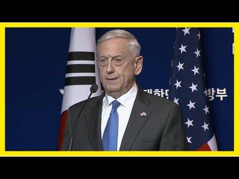 Mattis says north korea isn't capable of striking the us