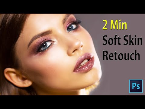 Soft Skin In 2 Min photoshop tutorial thumbnail