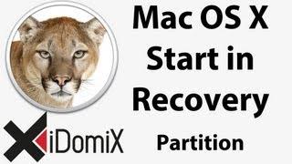Wie starte ich in die Recovery Partition von Mac OS X Dienstprogramme