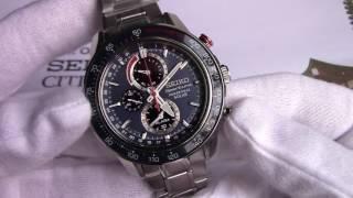 Обзор японских часов Seiko Perpetual Solar Chronograph SSC355P1