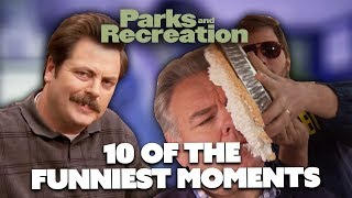 10 Of The Funniest Parks and Recreation Moments | Comedy Bites