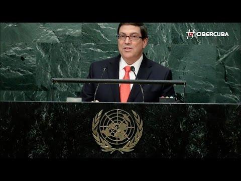Declaraciones de Bruno Rodríguez en la Asamblea General de la ONU