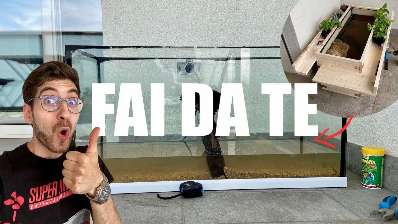 NUOVO Acquario/Oasi FAI DA TE per TARTARUGHE D'ACQUA DOLCE! | *Undici Giga* (Parte. 1)