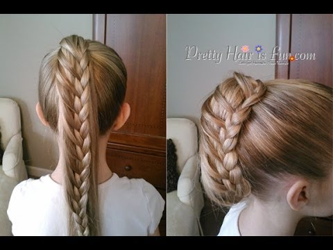 How To Ladder Braid Pulled Ponytail Updo