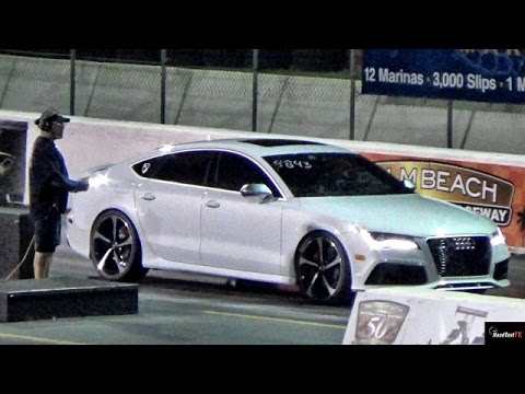 560 HP Audi RS7 Twin Turbo 1/4 Mile Drag Race Video - Road Test TV ...