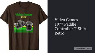 Video Games 1977 Paddle Controller T-Shirt Launch - Turbo Volcano!!