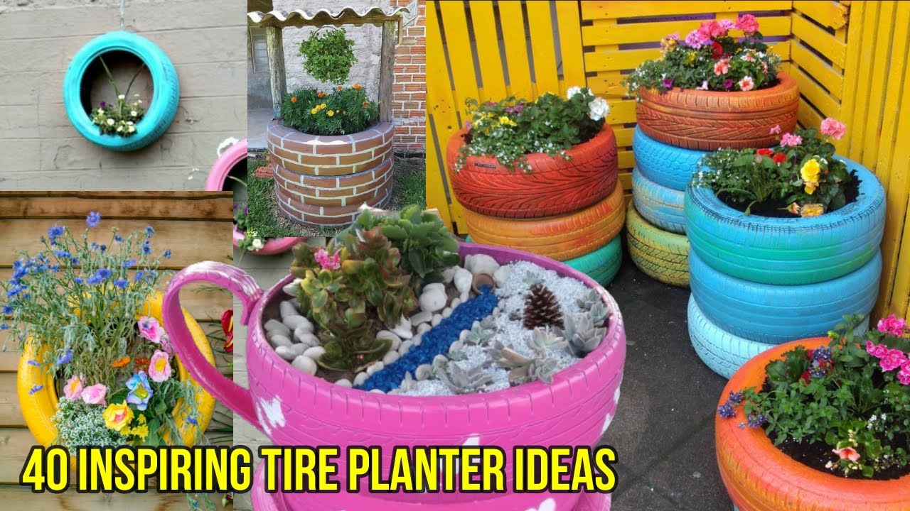 40 Inspiring Tire Planter Ideas to Amaze Everyone