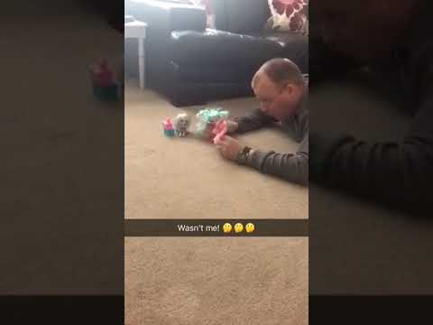 Got caught playing with dolls!!!