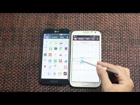 LG Optimus G Pro vs Galaxy Note 2: Hiệu năng, phần mềm - Phần 2